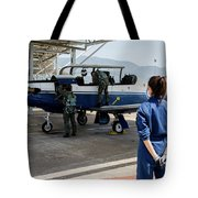 A T-6 Texan Trainer Of The Hellenic Air Tote Bag