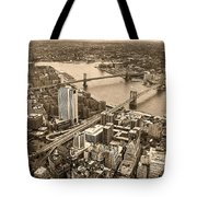 A Tale Of Two Bridges 2 Tote Bag by Joann Vitali