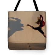 A Teenage Girl Playing With Her Shadow Tote Bag