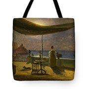 A Terrace In Amalfi In Moonlight Tote Bag