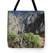 A Thunderstorm Is Approaching Over The Black Canyon Tote Bag