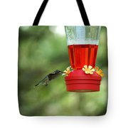 A Tiny Little Ruby-throated Hummingbirds Tote Bag