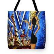 A Toast To The Little Black Dress By Madart Tote Bag