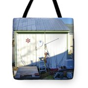 A Tool Shed In The Back Yard Tote Bag