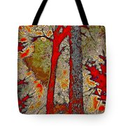 A Touch Of Autumn Abstract V Tote Bag