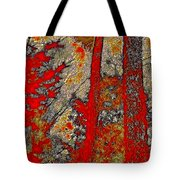 A Touch Of Autumn Abstract Vi Tote Bag