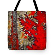 A Touch Of Autumn Abstract Vii Tote Bag