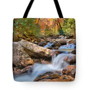 A Touch Of Autumn At Skinny Dip Falls Tote Bag