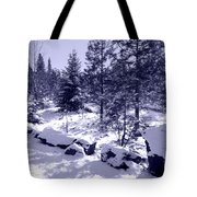 A Touch Of Snow In Lavender Tote Bag