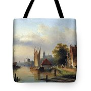 A Town By The River Tote Bag