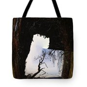 A Tree In A Square Abstract Tote Bag