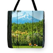 A Tree Swing Is Seen On A Summer Day Tote Bag