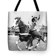 A Trickriding Cowgirl Tote Bag