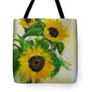 A Trio Of Sunflowers Tote Bag