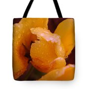 A Tullips Dappled With Rain Tote Bag