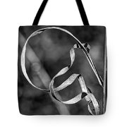 A Twist On Autumn In Black And White Tote Bag