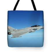A Typhoon Aircraft From 29 Squadron Royal Air Force Tote Bag