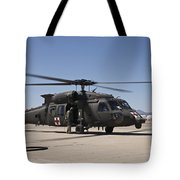 A Uh-60 Blackhawk Helicopter Tote Bag