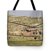 A Uh-60l Yanshuf Helicopter Tote Bag