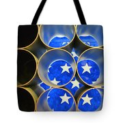 A Unique Perspective On The American Flag Tote Bag