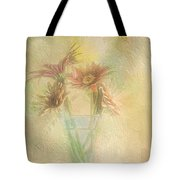 A Vase Of Gerbera Daisies In The Sun Tote Bag