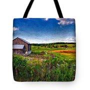 A Verdant Land Impasto Version Tote Bag