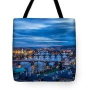A View At Prague - Czech Republic Tote Bag