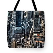 A View From The Empire State Building Tote Bag