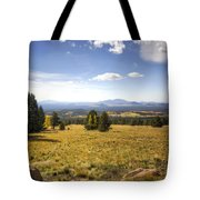 A View From The Peaks  Tote Bag