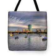 A View Of Back Bay - Boston Skyline Tote Bag
