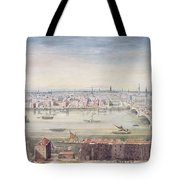 A View Of London From St Pauls To The Custom House, 1837 Tote Bag