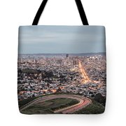A View Of San Francisco At Twighlight Tote Bag