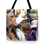 A View Of Some People Enjoying The 2009 Cleansing Of 46th Street Tote Bag