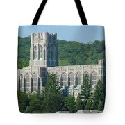 A View Of The Cadet Chapel At The United States Military Academy Tote Bag