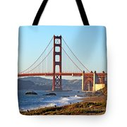 A View Of The Golden Gate Bridge From Baker's Beach  Tote Bag