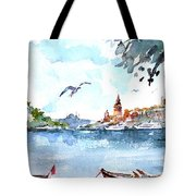 A View Of The Historical Peninsula From Uskudar - Istanbul Tote Bag