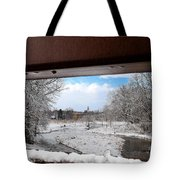 A View Of The Maunesha In A Fresh Blanket Of Snow Tote Bag