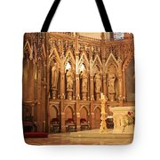 A View Of The St. Patrick Old Cathedral Altar Area Tote Bag