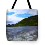 A View Of Urquhart Castle Tote Bag