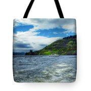 A View Of Urquhart Castle From Loch Ness Tote Bag