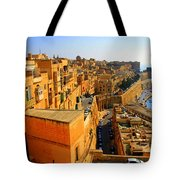 A View Of Valletta's Waterfront Tote Bag