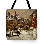 A Village In The Snow Tote Bag