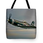 A Vought F4u-4 Corsair In Korean War Tote Bag