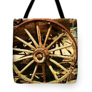 A Wagon Wheel Tote Bag