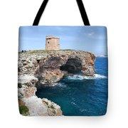 Xviii Defensive Tower In Alcafar Minorca - A Walk About Cliffs Tote Bag
