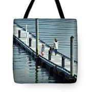 A Walk On The Pier Tote Bag