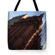 A Warm Slice Of Sunshine - Manhattan's Potter Building At Sunrise Tote Bag