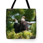 A Watchful Pair Tote Bag
