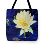 A Waterlily Tote Bag