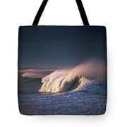 A Wave Breaks At Ziolkouski Beach Tote Bag